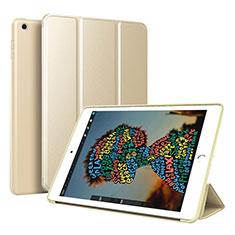 Apple iPad Mini 5 (2019)用手帳型 レザーケース スタンド カバー アップル ゴールド