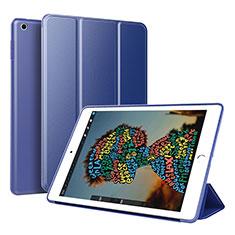 Apple iPad Mini 5 (2019)用手帳型 レザーケース スタンド カバー アップル ネイビー