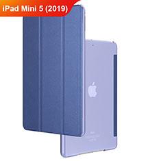 Apple iPad Mini 5 (2019)用手帳型 レザーケース スタンド アップル ネイビー