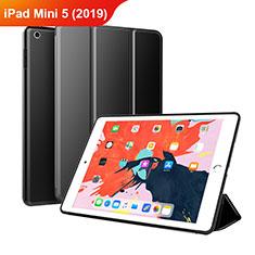 Apple iPad Mini 5 (2019)用手帳型 レザーケース スタンド L03 アップル ブラック