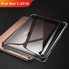 Apple iPad Mini 5 (2019)用極薄ソフトケース シリコンケース 耐衝撃 全面保護 クリア透明 H01 アップル グレー