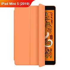 Apple iPad Mini 5 (2019)用手帳型 レザーケース スタンド L04 アップル オレンジ