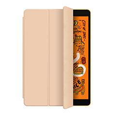 Apple iPad Mini 5 (2019)用手帳型 レザーケース スタンド L04 アップル ゴールド