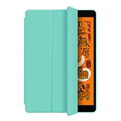 Apple iPad Mini 5 (2019)用手帳型 レザーケース スタンド L04 アップル シアン