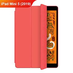 Apple iPad Mini 5 (2019)用手帳型 レザーケース スタンド L04 アップル レッド