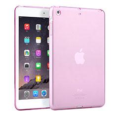 Apple iPad Mini用極薄ソフトケース シリコンケース 耐衝撃 全面保護 クリア透明 アップル ピンク