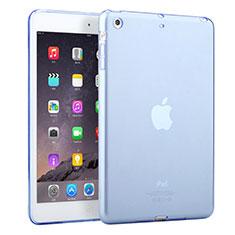 Apple iPad Mini用極薄ソフトケース シリコンケース 耐衝撃 全面保護 クリア透明 アップル ブルー