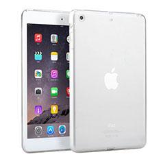 Apple iPad Mini用極薄ソフトケース シリコンケース 耐衝撃 全面保護 クリア透明 アップル ホワイト