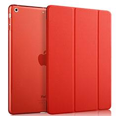 Apple iPad Mini用手帳型 レザーケース スタンド アップル レッド