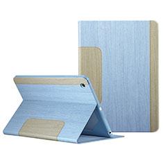 Apple iPad Mini用手帳型 レザーケース スタンド L03 アップル ブルー