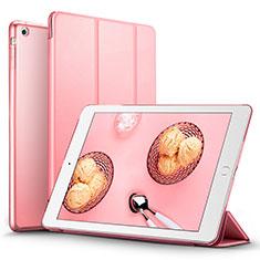 Apple iPad Mini用手帳型 レザーケース スタンド L06 アップル ピンク