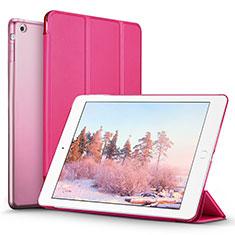 Apple iPad Mini用手帳型 レザーケース スタンド L06 アップル ローズレッド