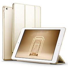 Apple iPad Mini用手帳型 レザーケース スタンド L06 アップル ゴールド