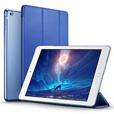 Apple iPad Mini用手帳型 レザーケース スタンド L06 アップル ネイビー