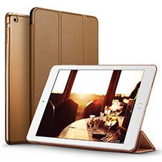 Apple iPad Mini用手帳型 レザーケース スタンド L06 アップル ブラウン