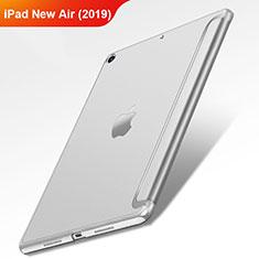 Apple iPad New Air (2019) 10.5用手帳型 レザーケース スタンド L01 アップル シルバー