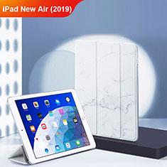 Apple iPad New Air (2019) 10.5用手帳型 レザーケース スタンド L02 アップル ホワイト