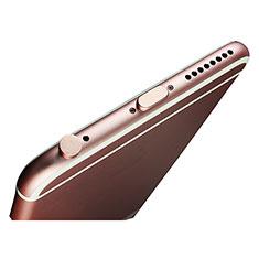 Apple iPad New Air (2019) 10.5用アンチ ダスト プラグ キャップ ストッパー Lightning USB J02 アップル ローズゴールド