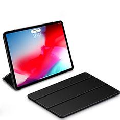 Apple iPad Pro 11 (2018)用手帳型 レザーケース スタンド L01 アップル ブラック