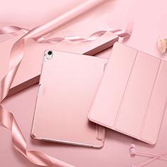 Apple iPad Pro 11 (2018)用手帳型 レザーケース スタンド L02 アップル ピンク