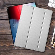 Apple iPad Pro 11 (2018)用手帳型 レザーケース スタンド アップル シルバー