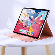 Apple iPad Pro 11 (2018)用手帳型 レザーケース スタンド L03 アップル ピンク