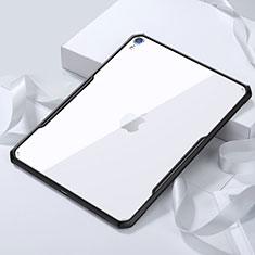Apple iPad Pro 11 (2018)用極薄ソフトケース シリコンケース 耐衝撃 全面保護 クリア透明 カバー アップル ブラック