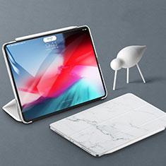 Apple iPad Pro 11 (2018)用手帳型 レザーケース スタンド カバー アップル ホワイト