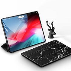 Apple iPad Pro 11 (2018)用手帳型 レザーケース スタンド カバー アップル ブラック
