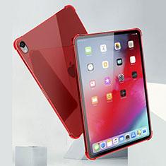 Apple iPad Pro 11 (2018)用極薄ソフトケース シリコンケース 耐衝撃 全面保護 クリア透明 H01 アップル レッド