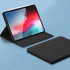 Apple iPad Pro 11 (2018)用手帳型 レザーケース スタンド カバー L01 アップル ブラック