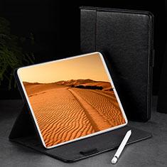 Apple iPad Pro 11 (2018)用手帳型 レザーケース スタンド カバー L02 アップル ブラック