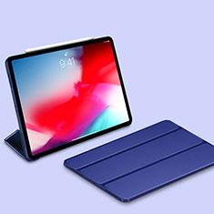 Apple iPad Pro 11 (2018)用手帳型 レザーケース スタンド カバー L03 アップル ネイビー