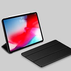 Apple iPad Pro 11 (2018)用手帳型 レザーケース スタンド カバー L03 アップル ブラック