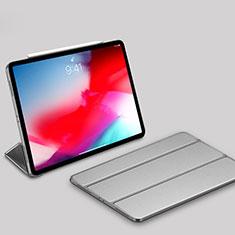 Apple iPad Pro 11 (2018)用手帳型 レザーケース スタンド カバー L03 アップル シルバー