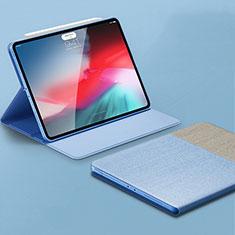 Apple iPad Pro 11 (2018)用手帳型 レザーケース スタンド カバー L01 アップル ブルー