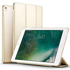 Apple iPad Pro 12.9 (2017)用手帳型 レザーケース スタンド アップル ゴールド