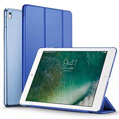 Apple iPad Pro 12.9 (2017)用手帳型 レザーケース スタンド アップル ネイビー