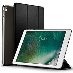 Apple iPad Pro 12.9 (2017)用手帳型 レザーケース スタンド アップル ブラック