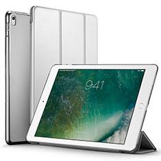 Apple iPad Pro 12.9 (2017)用手帳型 レザーケース スタンド アップル シルバー