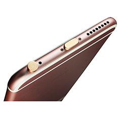 Apple iPad Pro 12.9 (2017)用アンチ ダスト プラグ キャップ ストッパー Lightning USB J02 アップル ゴールド