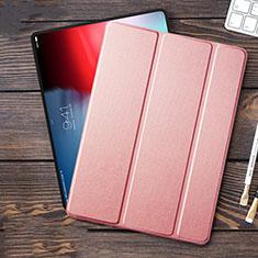 Apple iPad Pro 12.9 (2018)用手帳型 レザーケース スタンド L01 アップル ピンク