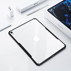 Apple iPad Pro 12.9 (2018)用極薄ソフトケース シリコンケース 耐衝撃 全面保護 クリア透明 カバー アップル ブラック