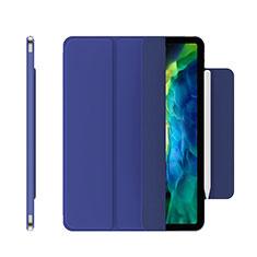 Apple iPad Pro 12.9 (2020)用手帳型 レザーケース スタンド カバー アップル ネイビー