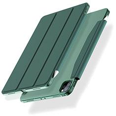 Apple iPad Pro 12.9 (2020)用手帳型 レザーケース スタンド カバー L01 アップル グリーン