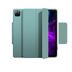 Apple iPad Pro 12.9 (2020)用手帳型 レザーケース スタンド カバー L03 アップル グリーン