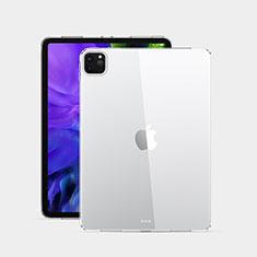 Apple iPad Pro 12.9 (2020)用極薄ソフトケース シリコンケース 耐衝撃 全面保護 クリア透明 T02 アップル クリア