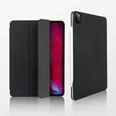 Apple iPad Pro 12.9 (2020)用手帳型 レザーケース スタンド カバー L07 アップル ブラック