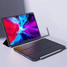 Apple iPad Pro 12.9 (2020)用手帳型 レザーケース スタンド カバー L08 アップル ブラック