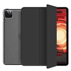Apple iPad Pro 12.9 (2020)用手帳型 レザーケース スタンド カバー L10 アップル ブラック